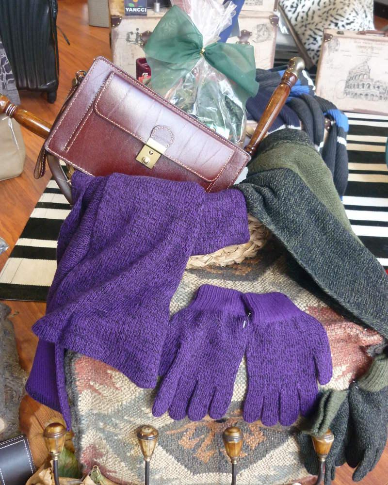 Juego de bufanda y guantes